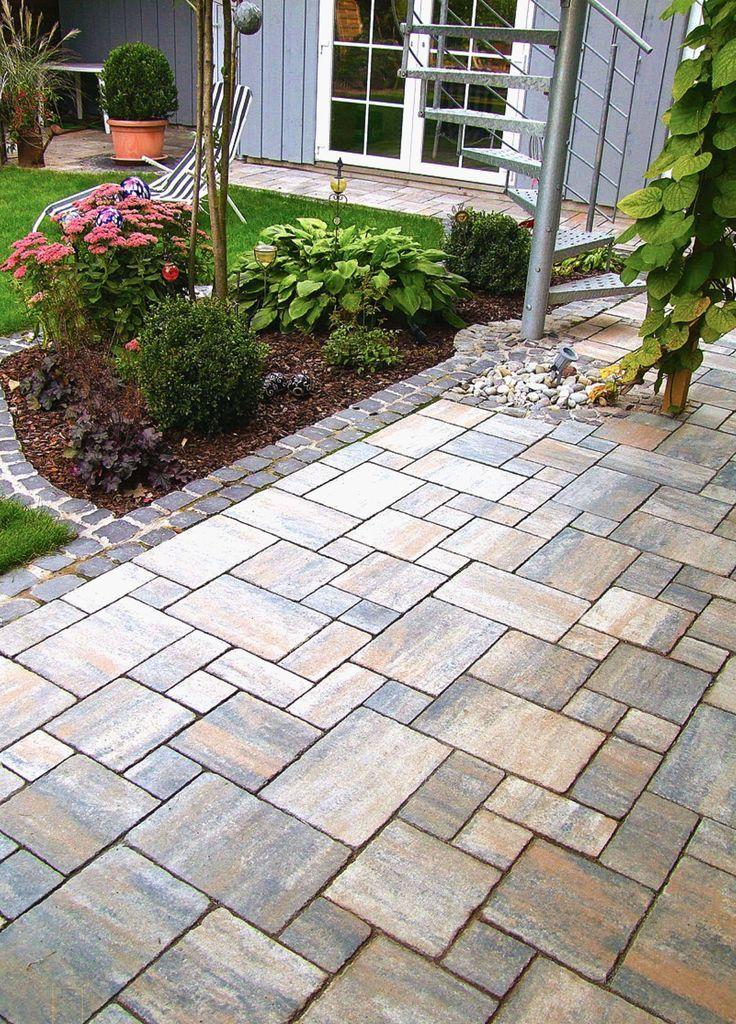 Garten Pflastersteine Schon Garten Pflastern Kosten Gleich Pflaster Ideen Garte Garden Paving Backyard Fire Beautiful Gardens