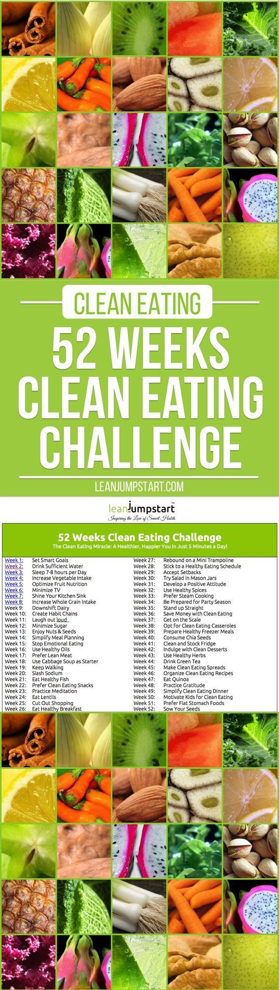 Clean Eating Challenge: 52 Weeks Clean Eating Challenge | Whole-Food Recipes | Healthy Living | Optimal Health
