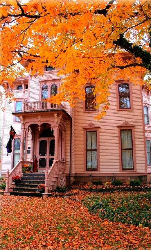 The House at the End of Autumn Street.. Canandaigua, New York | Flickr - Photo by TW Collins