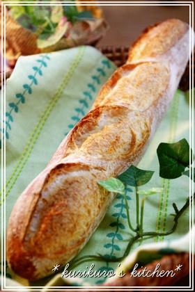 簡単♫気軽にフランスパン by kurikuro [クックパッド] 簡単おいしいみんなのレシピが137万品