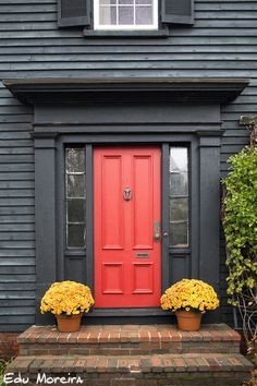 Coral Door on Pinterest | Coral Front Doors, Orange Front Doors ...