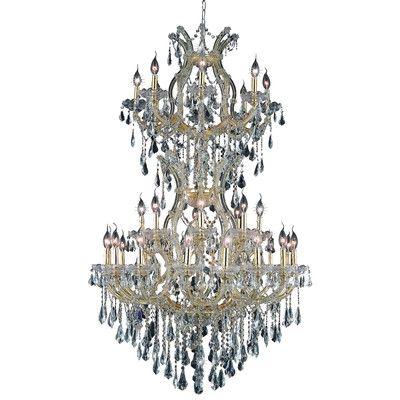 Maria Theresa 34 Light Crystal Chandelier Finish / Crystal Color / Crystal Trim: Gold / Golden Teak (Smoky) / Royal Cut - http://chandelierspot.com/maria-theresa-34-light-crystal-chandelier-finish-crystal-color-crystal-trim-gold-golden-teak-smoky-royal-cut-674476768/