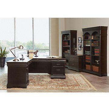 Corner Desk, Modern Home Office, Beaumont Left Return L Desk Suite, SET