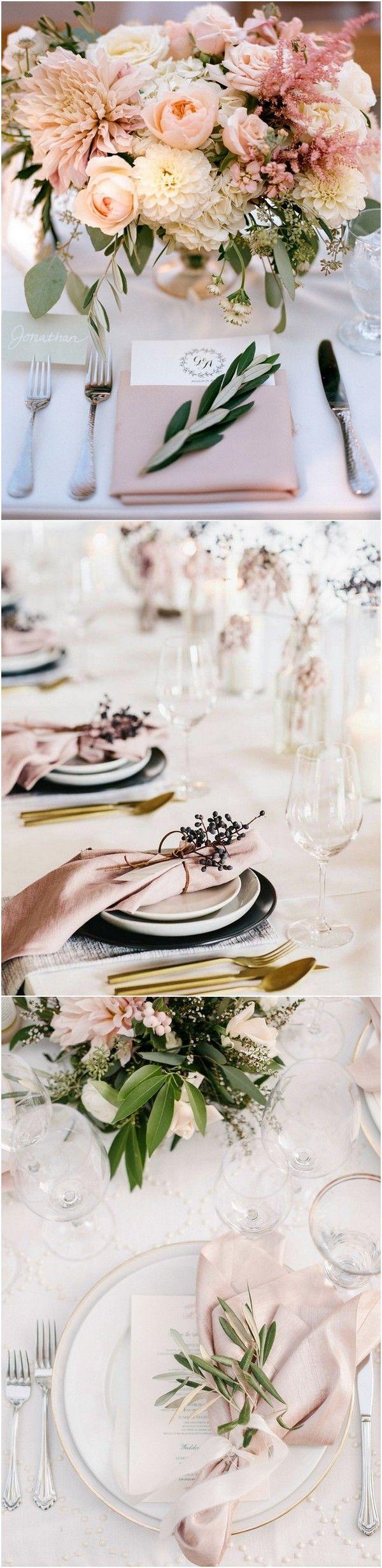 pink and gold wedding table settings for 2018 #wedding #weddingdecor #weddingideas