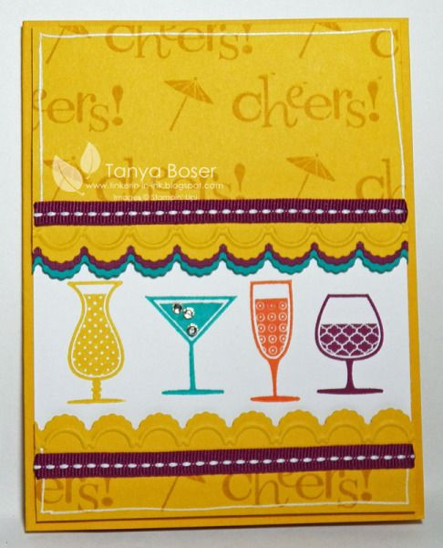 Crushed Curry Cheers by tanya27 - Cards and Paper Crafts at Splitcoaststampers