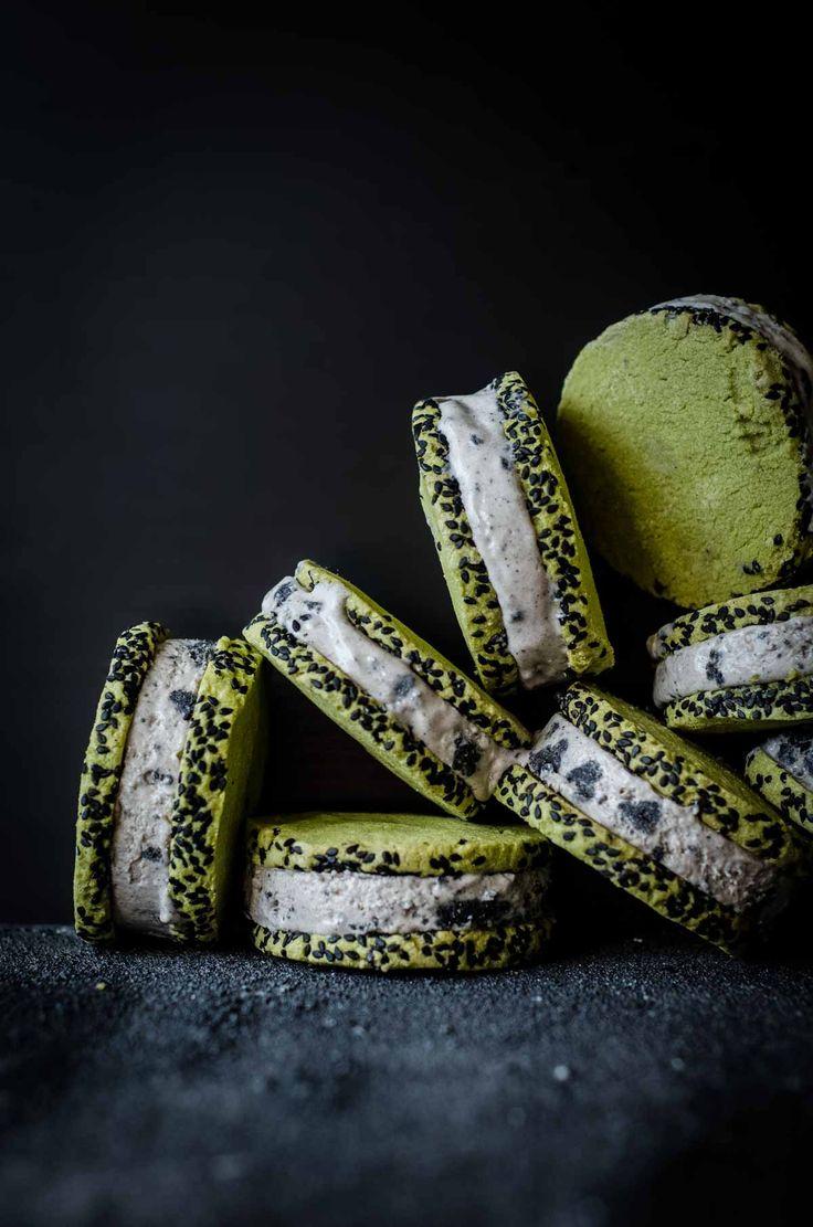 Black Sesame and Green Tea Ice Cream Sandwiches | Arashiyama, Kyoto | Chew Town Food Blog