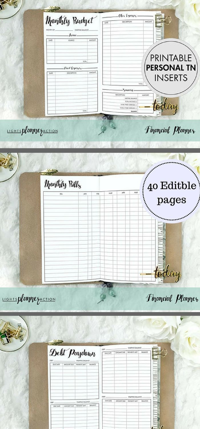 yearly financial planner template