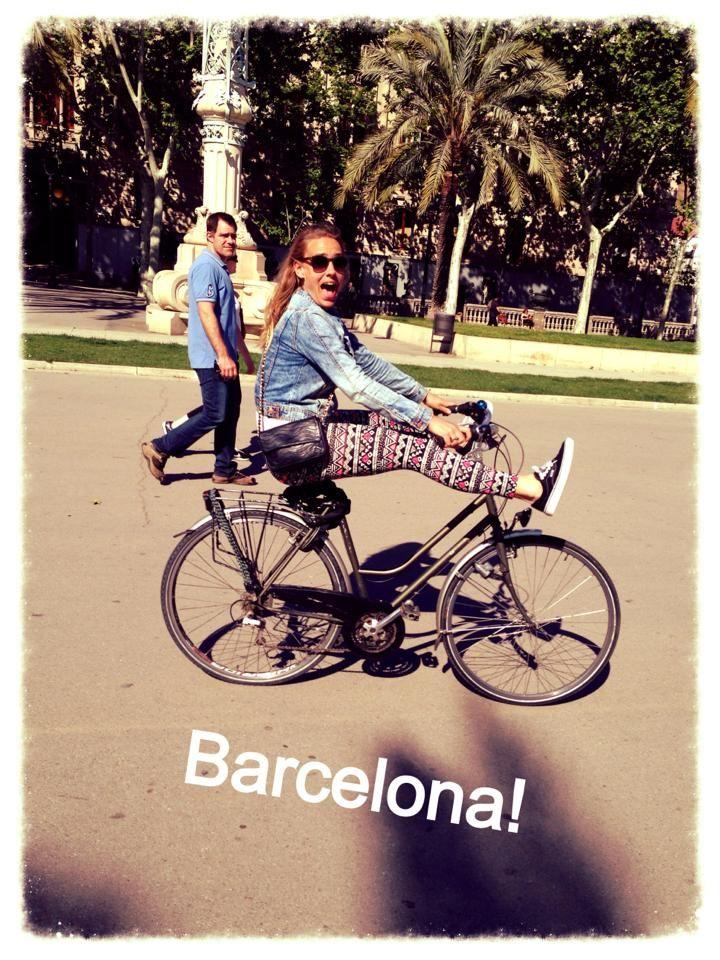Cycling is fun in Barcelona