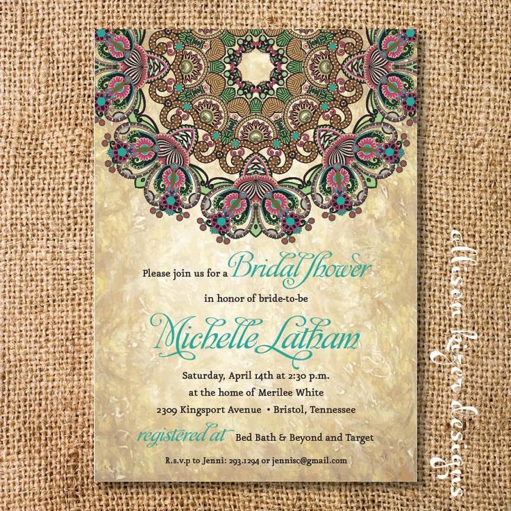 Rustic Byzantine Printable Invitation. $15.00, via Etsy.