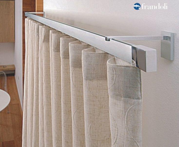 Bastone per tende in alluminio con scivoli