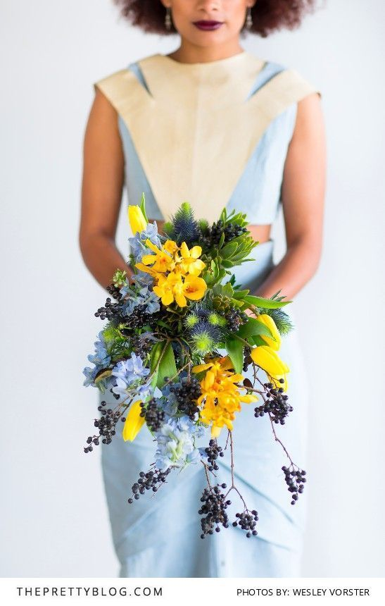 Love the combination of Yellow & Baby Blue | Venue by Landtscap | Styling, Coordinating, Florals & Cake by Leipzig | Stationery by Lezanne's Designs | Food by Two Chefs | Makeup by Corlé Barnard | Hiring & Decor by Recreate | Dress by Mieke Vermeulen | Photography by Wesley Vorster