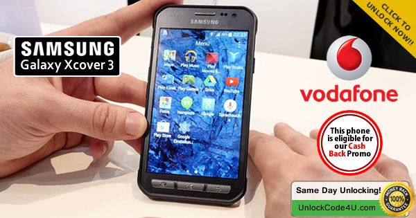#UnlockSamsung Galaxy Xcover 3 from Vodafone by Unlock Code and Use Any SIM Card http://bit.ly/1WeWIpR
