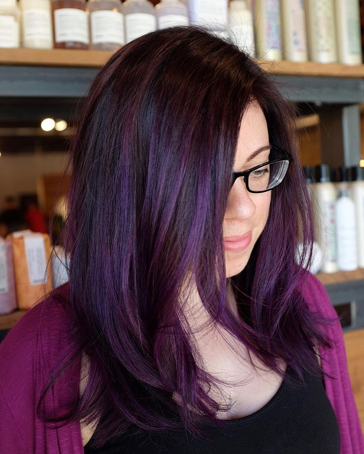 nice 25 Dark Purple Hair Ideas That Will Tease And Splash