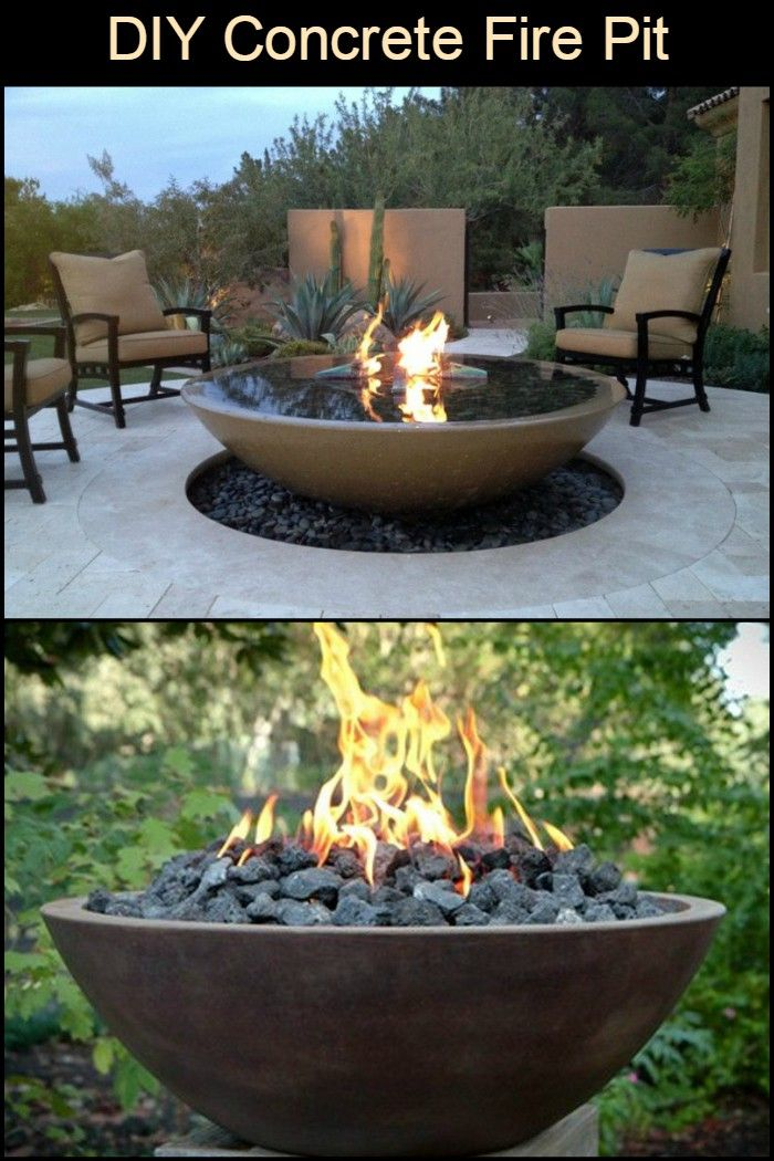 Diy Concrete Fire Pit In 2019 Fire Pit Backyard Concrete