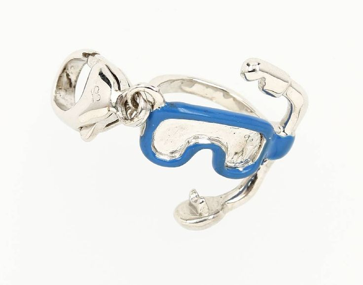 "LUXENTER Charmed Einhänger, 925er Silber, z.T.emaill., ""Taucherbrille"", Karabiner  29,- €"