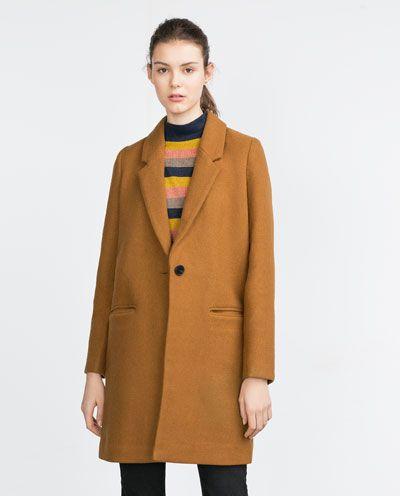 Image 2 of TOMBOY COAT from Zara