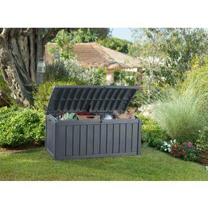 Glenwood Plastic Deck Storage Box Outdoor Patio Furniture 101 Gal, Brown    Kmart