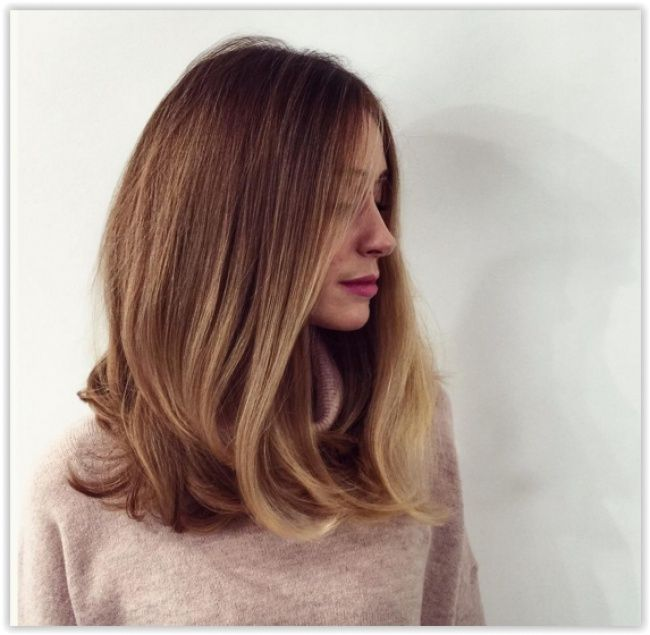 Balayage naturel blond miel
