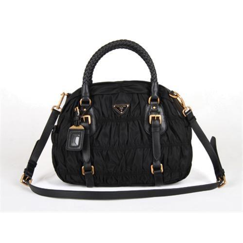Prada bags and Prada handbags Prada Black Top Handles 03 315