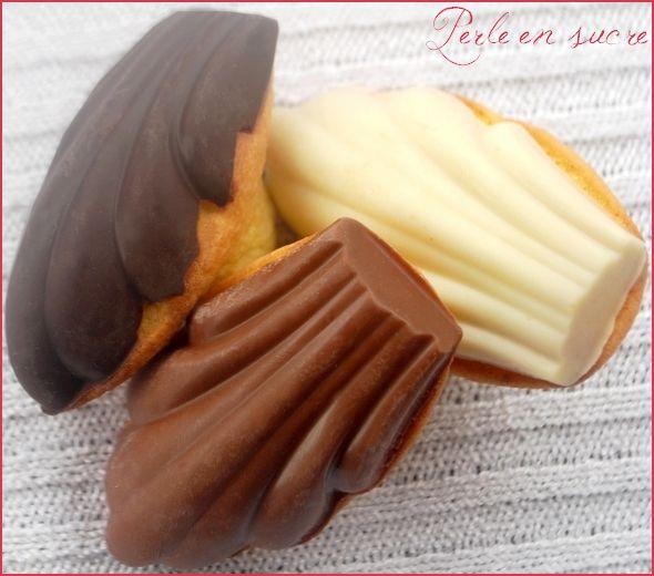 Madeleines avec couche chocolat