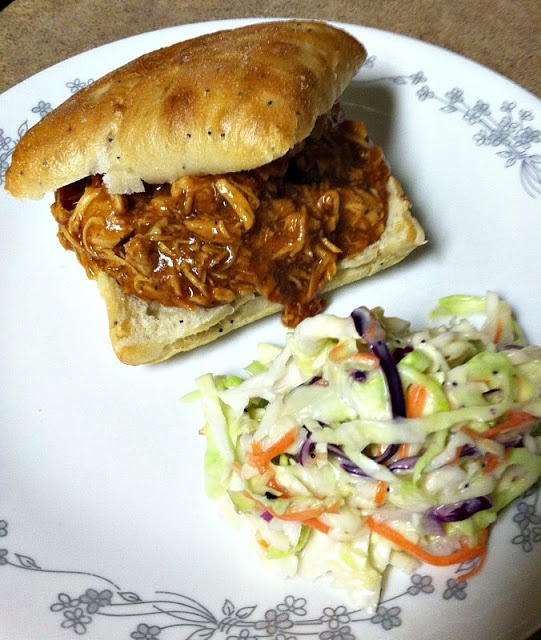 Easy Beer & BBQ Chicken, Slow cooker meal, soo yummy!