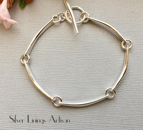 Sterling Silver Links Artisan Bracelet Handmade