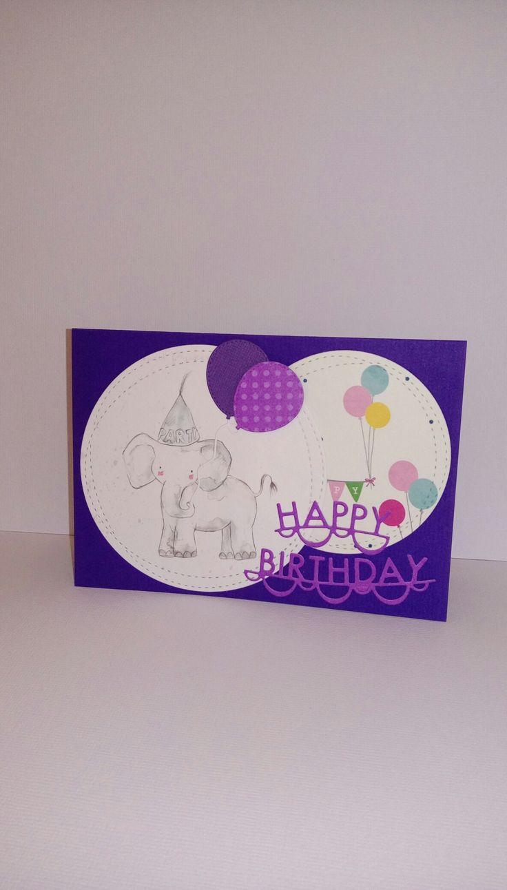 Happy Birthday Party Luftballons Elefant Glückwünsche Zur TaufeEinschulungGeburtstageKartenGeburtstagsfeiern
