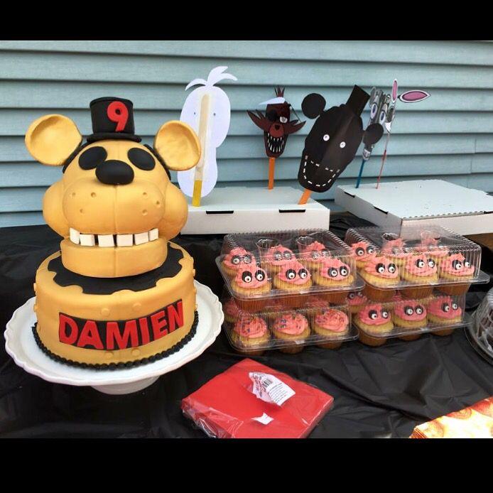 Five Nights At Freddys Birthday Cake Golden Freddy Fnaf