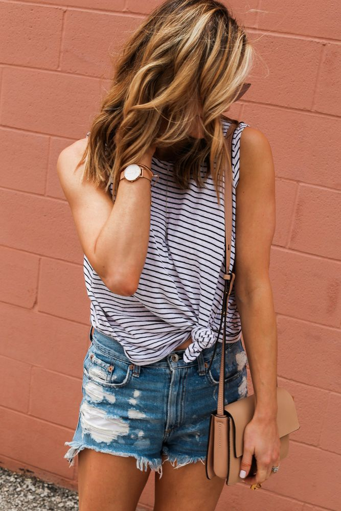 Most Flattering Denim Shorts | Cella Jane