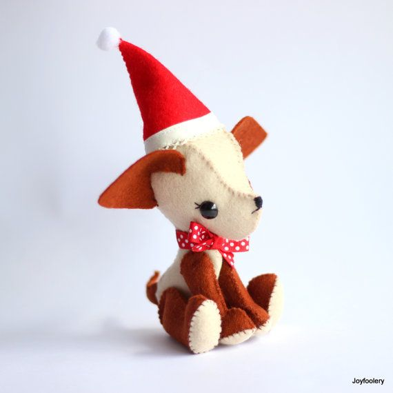 Check out this item in my Etsy shop https://www.etsy.com/au/listing/483288461/christmas-puppy-plushie-dog-softie
