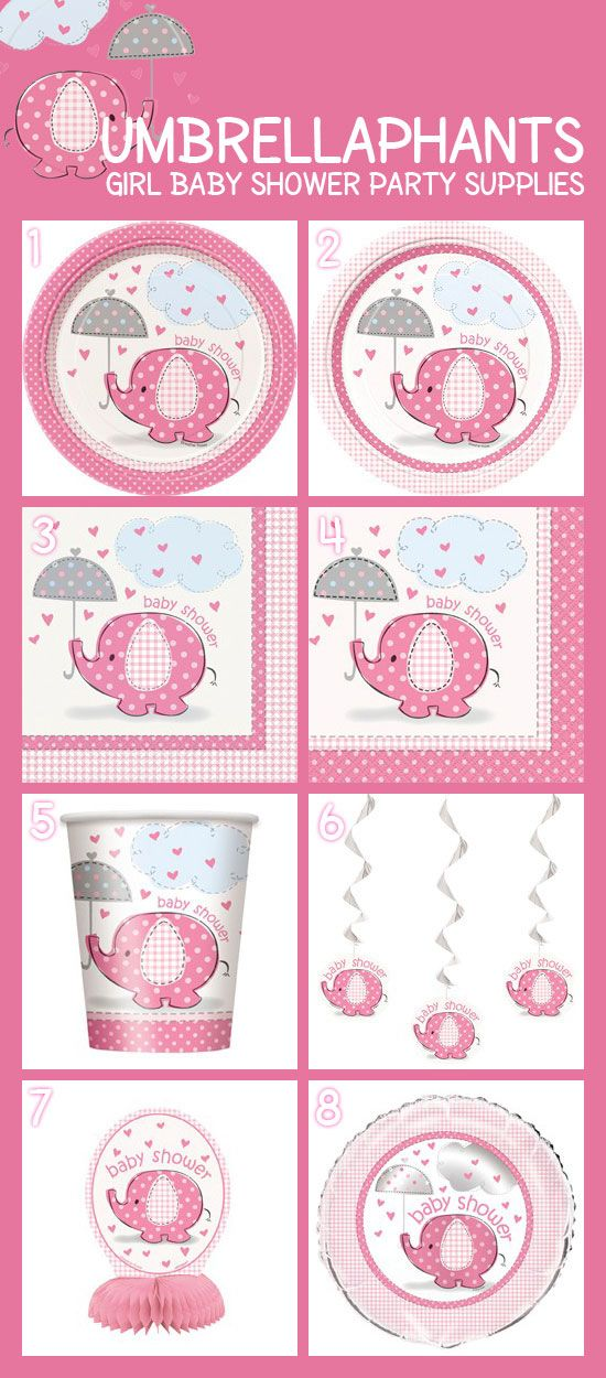 Are you expecting girl? Pink Umbrellaphants is the perfect theme for your girl baby shower. These highly popular elephant party supplies include tableware, decorations, favors, and much more. Visit today and start planning that Pink Umbrellaphants girl baby shower:  http://www.discountpartysupplies.com/special-events/baby-showers/umbrellaphants-girl-baby-shower-supplies?utm_source=Pinterest&utm_medium=social&utm_content=PinterestImageBoard&utm_campaign=PinkUmbrellaphantPromotedPin