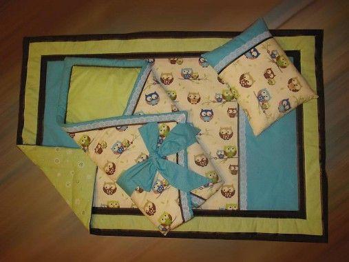 StankaM / Detská súprava - deka, zavinovačka a vankúšik