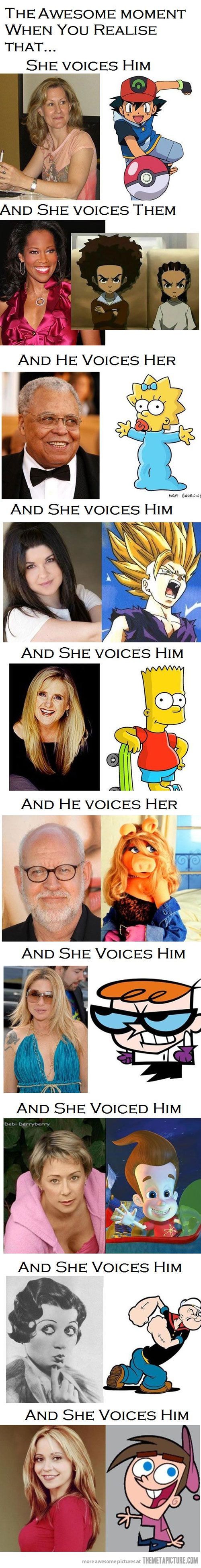 who would have thought ...cartoon voice actors....