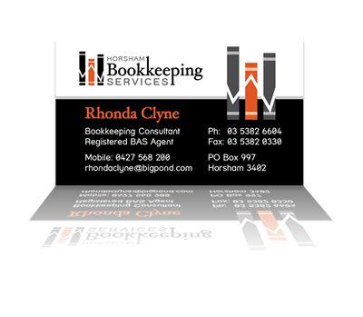 Horsham Bookkeeping Services business cards. Layout & design by Phunkemedia Web & Graphic Design. www.phunkemedia.com