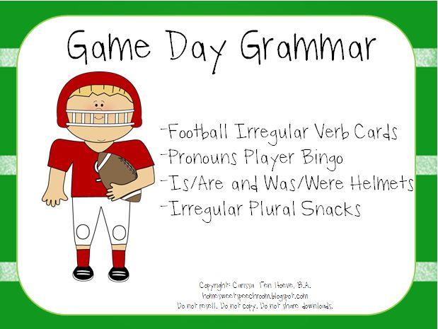 Home Sweet Speech Room : Football Game Day Grammar