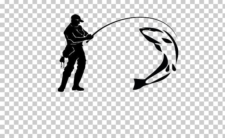 Fisherman Logo Fly Fishing Png Angling Art Artificial Fly Black Black And White Fish Logo Png Fly Fishing