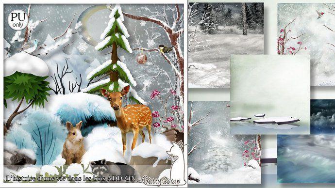 kit l'histoire d'une vie dans les bois add-on by kittyscrap - $1.70 : ScrapBird!, source for digital scrapbooking