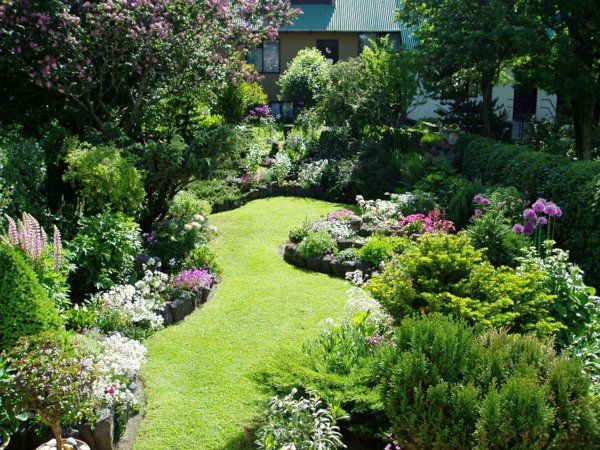 amengament petit  jardin jolie et vert                              …