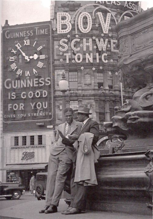 Picadilly Circus... The Boots chemist is still there....