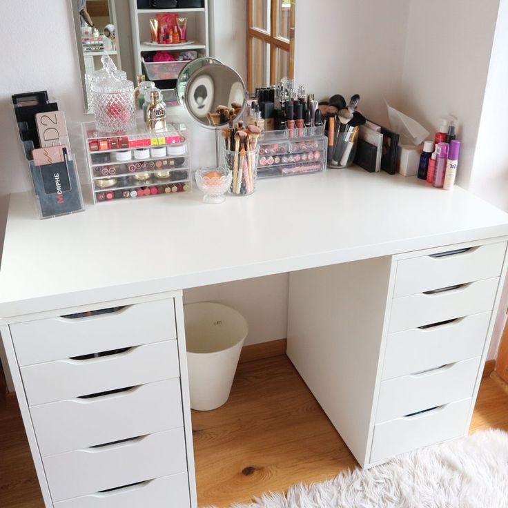 die besten 25 make up aufbewahrung ideen auf pinterest ikea make up aufbewahrung make up. Black Bedroom Furniture Sets. Home Design Ideas