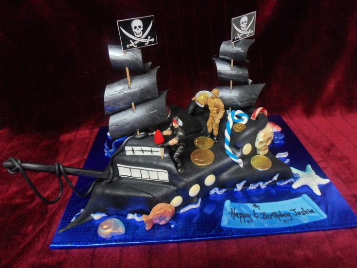 PIRATE SHIP BIRTHDAY CAKE www.frescofoods.co.nz email: fresco@woosh.co ...