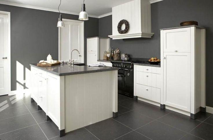 Opstelling van keuken met deur eiland met open stuk voor krukken pinterest - D co keuken ...