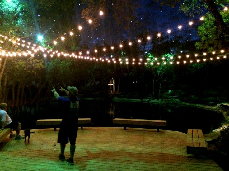 How To Install String Lights Outside : 77 best images about String / Party Lights Installation by Dallas Landscape Lighting on Pinterest