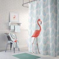 Wish | Flamingo Bath Curtain PEVA Eco-Friendly Waterproof Curtain Bathroom Shower Curtain 180*200cm