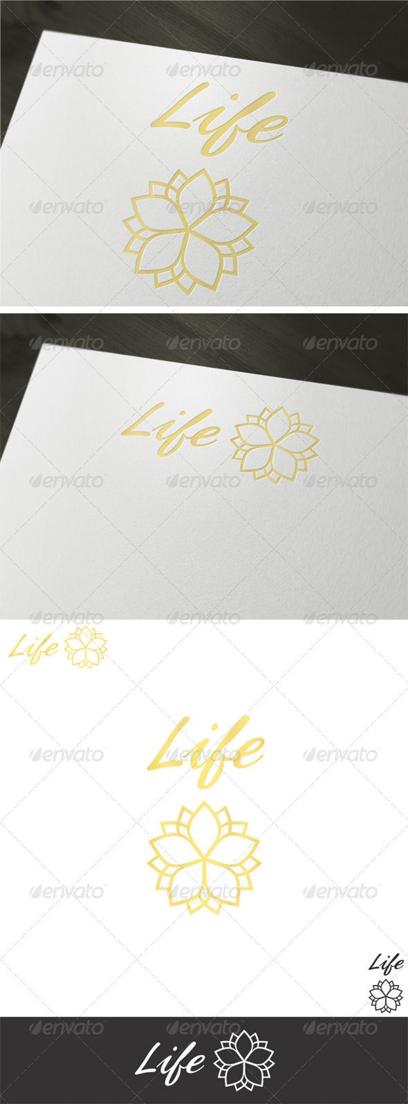 Life Logo Template #GraphicRiver A clean elegant logo design that can fit to any cosmetic, health care, businesses and companies. • Fully vector • Easy to edit text (link to free fonts included in help file) • CMYK at 300DPI • AI and EPS files • Download includes all styles shown in preview image should you need any further assistance, don't hesitate to contact me via email through my profile. Please take a moment to rate this item