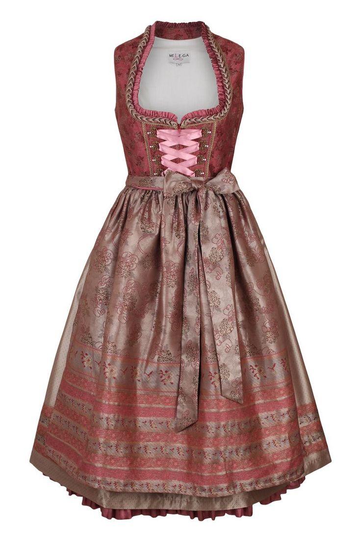 Dirndl midi mit aufwendigen Verzierungen von Melega Fashion ab 99,95 bei Ludwig & Therese ♥ schneller Versand ♥ große Auswahl ♥ starke Marken