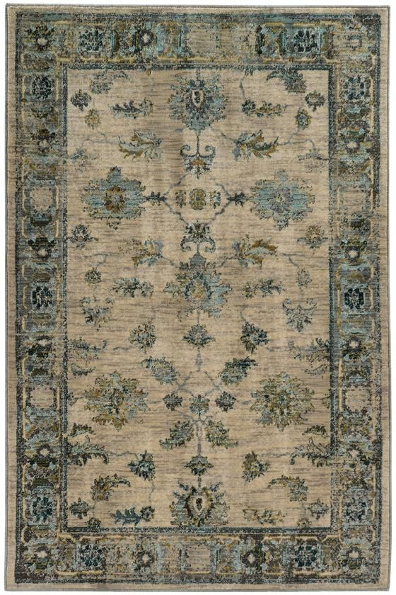 Chandler Area Rug   Traditional Rugs   Synthetic Rugs   Patterned Rugs    Border Rug