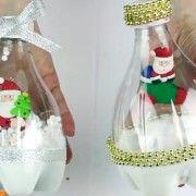 Новогодние поделки из пластиковых бутылок. Маcтер-класс