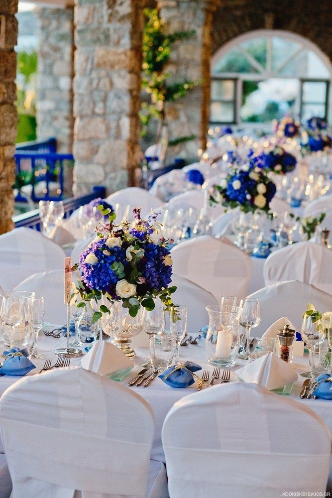 """""""Dolphins of Delos"""" Restaurant provides an outdoor experience for your wedding perty, but well protected by the Meltemi wind of Mykonos"""
