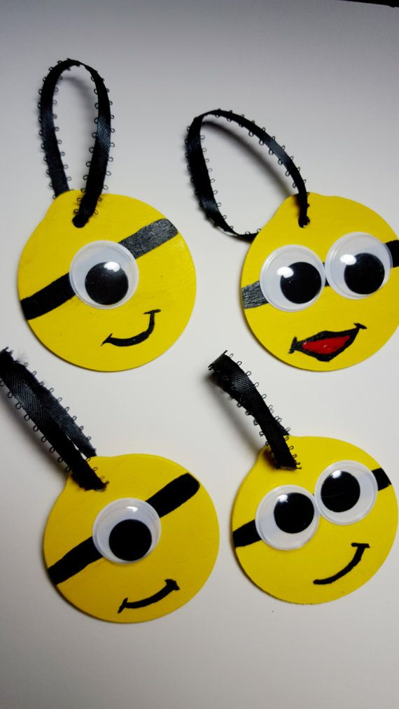 Minion ornament Minion ornament set despicable me by Knackmaker